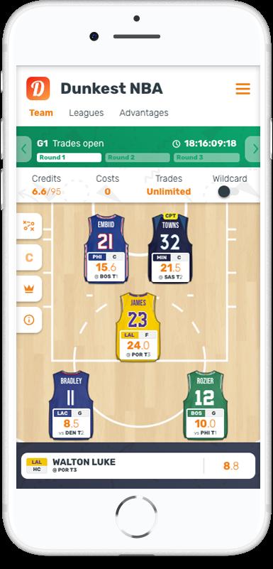Dunkest NBA - The NBA Fantasy Basketball